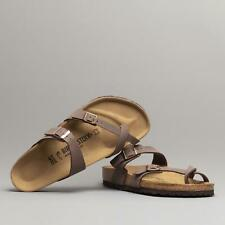 Birkenstock MAYARI 071061 (Regular Fit) Ladies Birko-Flor Buckle Sandals Mocca