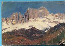 4/ Impressionismus Alpen Ölgemälde Dolomiten Rosengarten Margarethe Hamm ~1925