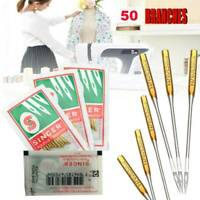 50 x Machine Needles to 3 sizes #9, 11, 14, 16,18 Universal