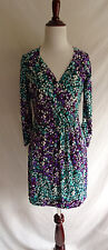 Laundry by Shelli Segal 2 Mosaic Snakeskin Print Jersey Knit Surplice Wrap Dress