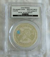 2010 compte à rebours pour les jeux olympiques de victoire podium £ 5 argent proof dallées cgs 99