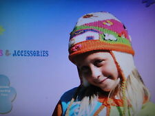 New Perry Kids Girls Knit Winter Trapper Hat M 3 4 5 Nwt So Cute