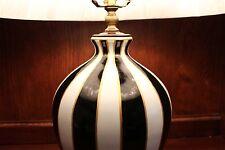 """Unique Black and White Stripe Porcelain Table Lamp 25"""""""