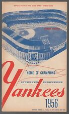 1956 Kansas City A's @ Yankees Scorecard Program 7/20/56 Mickey Mantle Ex 33081