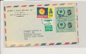 LM88623 Haiti air mail to Granby good cover used