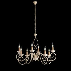 Chandelier iron beat hanging classico ivory bon-bl195-8
