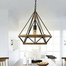 Metal Pendant Light Shade Ceiling Industrial Geometric Wire Cage Lamp Gadget Hot