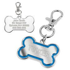 Personalizado Grabado etiquetas de Perro Gato Cachorro Collar de nombre de identificación de mascotas de hueso de etiqueta/brillo de la pata