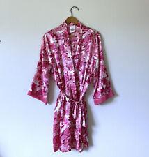 Medium - New LIZ CLAIBORNE Pink Floral Kimono Sleeve  Bathrobe