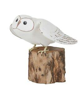 Archipelago Hand Carved Wooden Birds Barn Owl