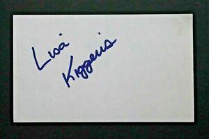 Lisa Kiggens Pro LPGA Golf UCLA Autographed Signed 3x5 Index Card