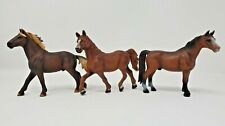 Schleich Retired 2000's Horse Lot of 3 Mustang Stallion Morgan Mare Sorrel 1994