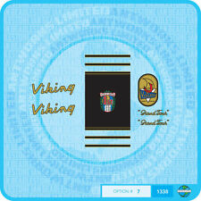 """Viking """"Grand Tour"""" - Bicycle Decals Transfers - Stickers - Set 7A"""