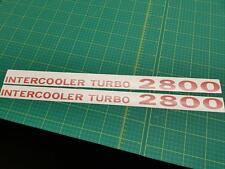 Mitsubishi Pajero Shogun Intercooler Turbo 2800 decals stickers resto V20 MK2 NJ