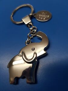 Personalised Elephant Keyring with Crystals Free Engraved Tag & Gift Bag