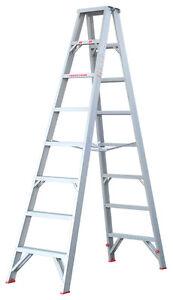 INDALEX Tradesman Aluminium Double Sided Step Ladder 8ft 2.4m
