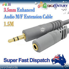 *JH* 1.5M Gold Plated 3.5mm M/F Enhanced Earphones Audio Extension Cable Cord