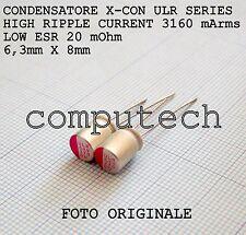 270uF 6,3V 105°C Condensatori a Stato solido polimerici ULR serie LOW ESR 2pz