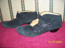 THINK! BLACK SUEDE ANKLE BOOTS SIZE U.S. 6.5 MADE IN ITALY