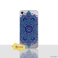 Mandala Case/cover Apple iPhone 5 5s SE Screen Protector / Silicone Blue Dream