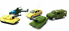5pcs Die Cast Metal Military Vehicle Moving Parts Car Tank Helicopter Kids Toy