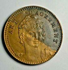 France, Paris, St. Denis, Madame Julia, shellcard brothel token c. 1890s - rare