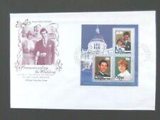 Niue-Charles/Diana Royal Wedding Minisheet FDC-Alofi