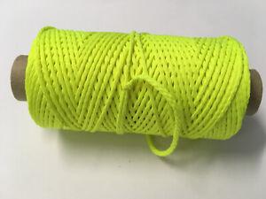 Maurerschnur neon, leuchtend gelb 2 mm x 100 m, Lot Pflasterschnur Richtschnur