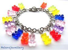 Handmade by me Yummy Gummy Bear Charm Bracelet - Presented in a beautiful bag