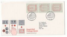 GREAT BRITAIN 1984 ROYAL MAIL POSTAGE LABELS FRAMAS SET OF 3 FIRST DAY COVER