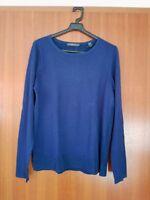 Damen Wolle Strickpullover Pulli blau EDC ESPRIT COLLECTION Gr.S 36 38 NEU Shirt