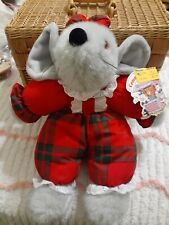 """New listing Vintage 1990's Toy'S R Us Plush Christmas Mouse 12"""" Stuffed Animal Commonwealth"""