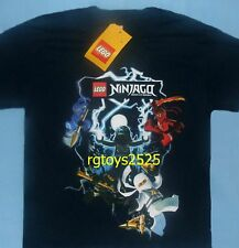 Lego Ninjago Masters of Spinjitzu t-shirt size Small Childs Black Short Sleeve