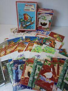 Vintage 1990s Kitsch Traditional Christmas Cards Bundle Father Xmas Choir Boy