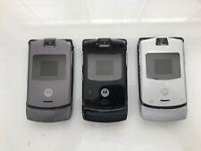 NEW Motorola Razr V3 Camera Flip Phone (Unlocked) Bluetooth *6 Month Warranty*