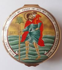 Halcyon Days Enamels, St Christopher's Prayer, Religious,  Hand Painted