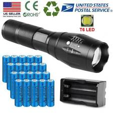 Powerful Zoomable LED Flashlight + 3.7V Rechargeable Battery For Outdoor Torch