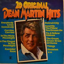 """DEAN MARTIN - 20 ORIGINAL DEAN MARTIN HITS 12""""  LP (T942)"""