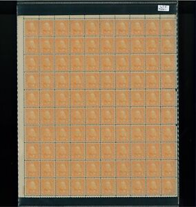 1927 United States Postage Stamp #638 Plate No. 18030 Mint Full Sheet