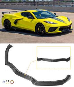 Carbon Fiber Front Lip GM 5VM Style For 20-Up Corvette C8 Z51 Stingray Splitter