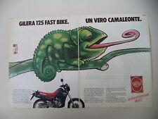 advertising Pubblicità 1987 MOTO GILERA 125 FAST BIKE FASTBIKE