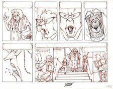 DISNEY'S RECESS ORIGINAL PENCIL COMIC PAGE #55B SIGNED BY BERNAT SERRAT ARTWORK.