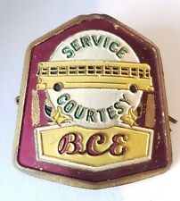 More details for bce service courtesy electric railway bus drivers hat badge british columbia