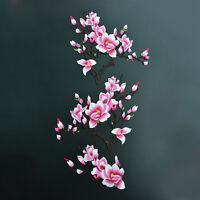 1 Satz Magnolien Blume gestickte Flecken Eisen / Nähen auf Applikationen Wa V1J3