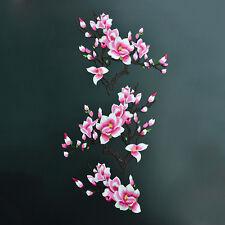 1 Satz Magnolien Blume gestickte Flecken Eisen / Nähen auf Applikationen Wasser