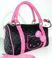 HELLO KITTY BLACK PINK PURSE HANDBAG BAG ACCESSORY RARE WOMEN BARBIE PRINCESS