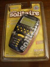 RADICA Pocket Solitaire Electronic Handheld Game Klondike Las Vegas 1998 NIP NOS