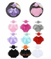 Baby Girl Outfit Birthday Party Diaper Bloomers Bowtie Playsuit  Photograph Prop