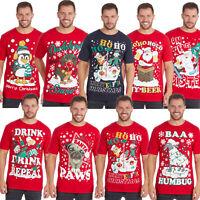 Men's Christmas Novelty Print T Tee Shirt Top Funny Rude Joke Xmas Gift S-5XL
