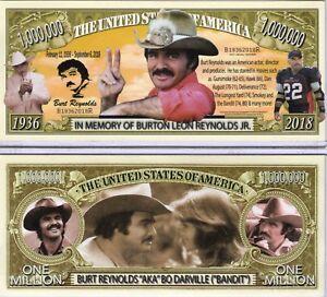 Burt Reynolds In Memory of Million Dollar Novelty Money